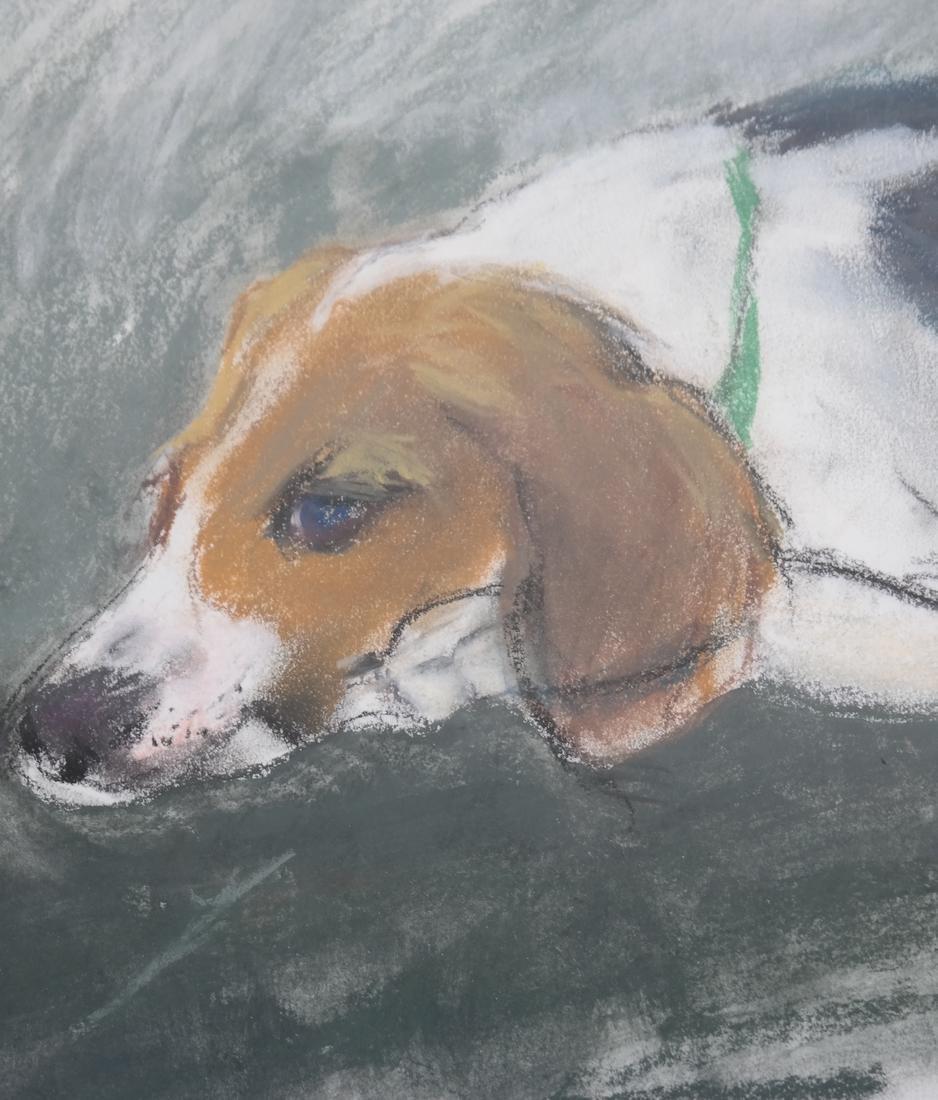 Resting Dog, Gouache - 5