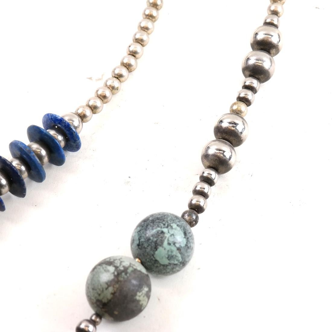 Asymmetrical Hardstone Necklace - 3