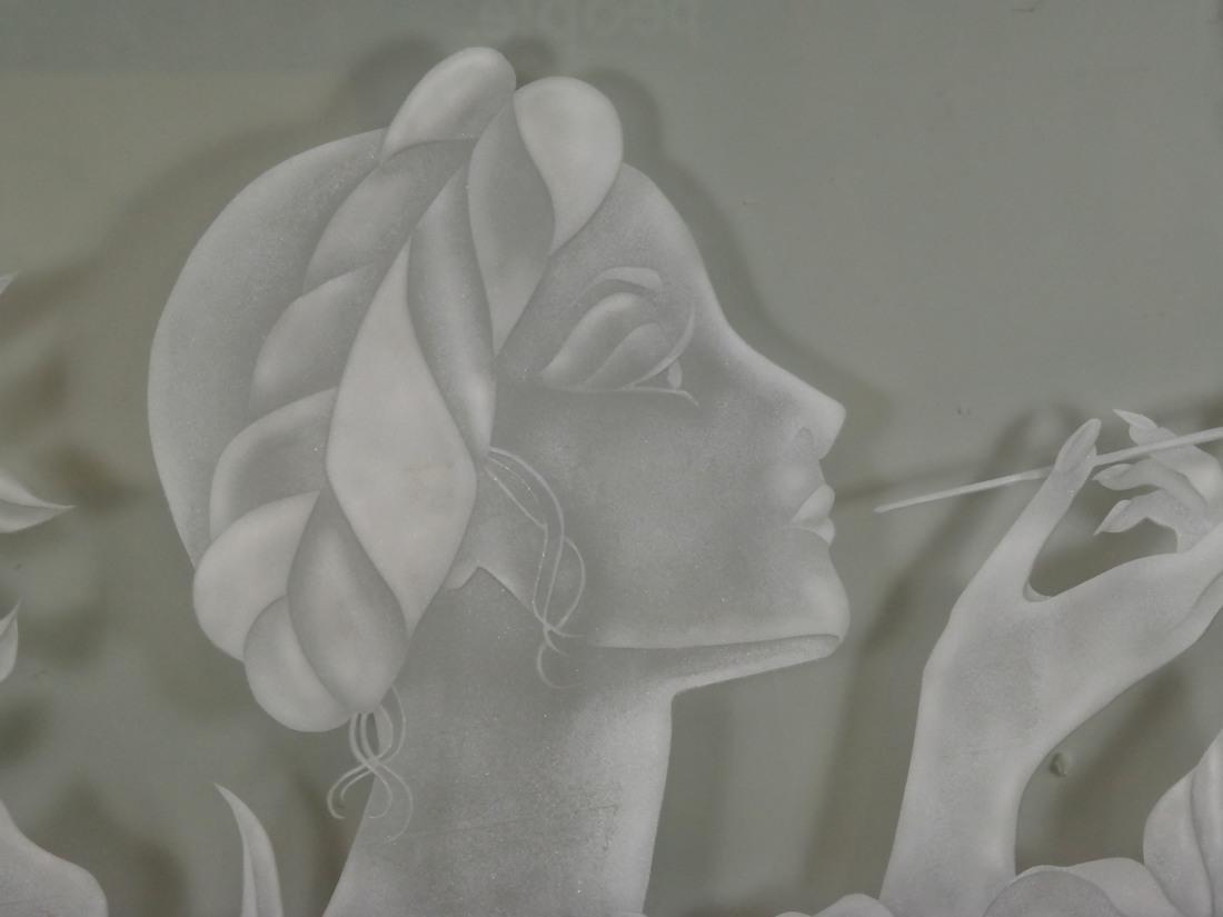 Art Nouveau-Style Glass Rondel - 3