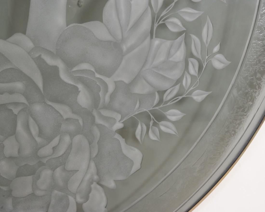Art Nouveau-Style Glass Rondel - 7