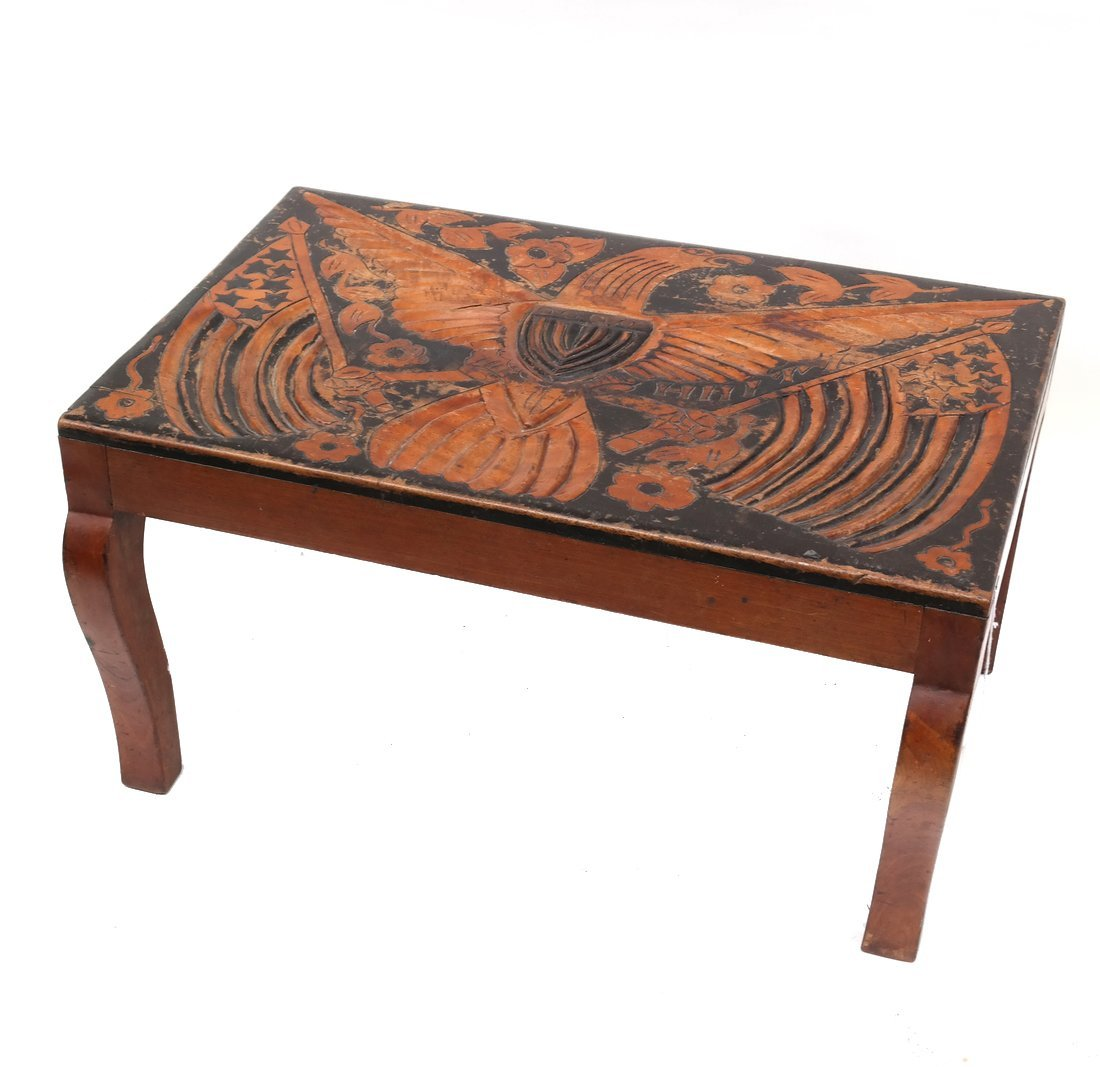 Eagle Carved Wood Table
