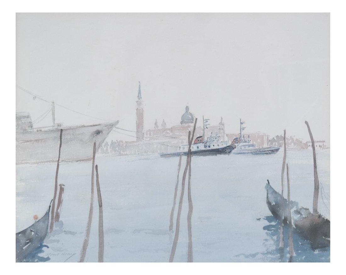 2 Italian Landscapes, Framed Watercolors - 2