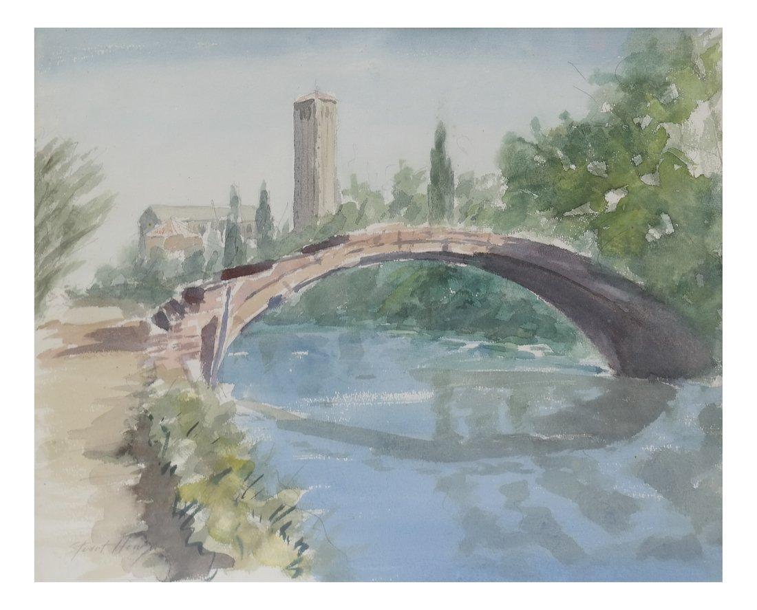 2 Italian Landscapes, Framed Watercolors - 3