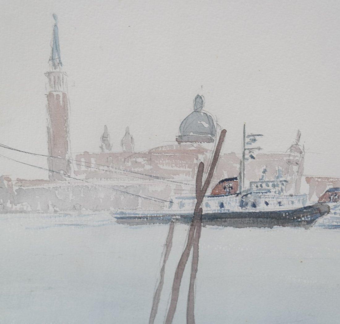 2 Italian Landscapes, Framed Watercolors - 7