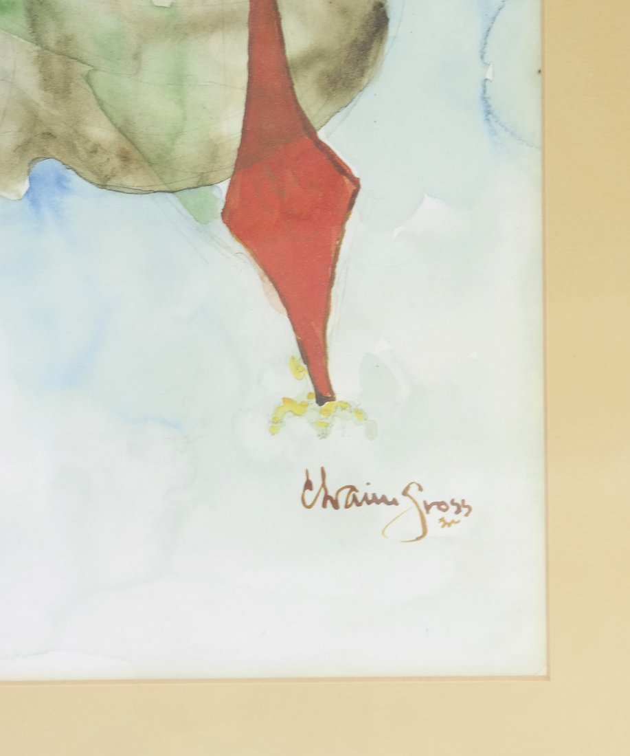 Chaim Gross, Watercolor/Pencil on Paper - 3
