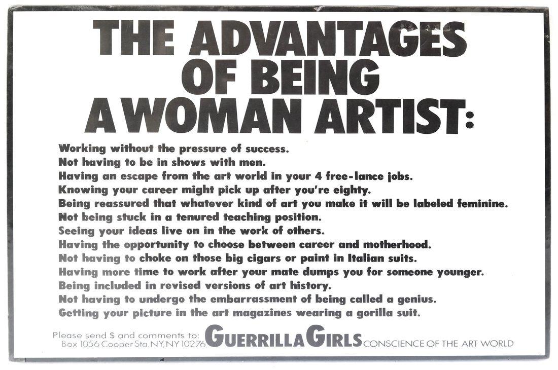 Guerilla Girls' Poster & Paper Bag