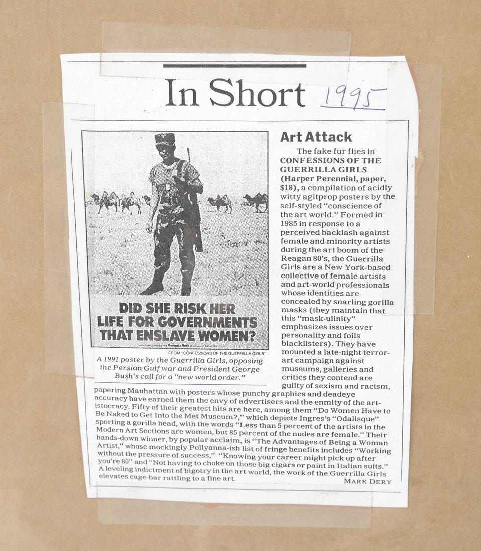 Guerilla Girls' Poster & Paper Bag - 6