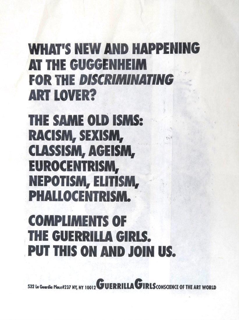 Guerilla Girls' Poster & Paper Bag - 8