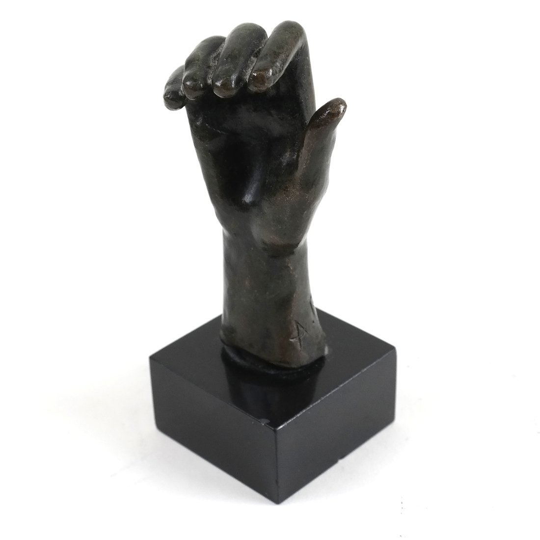 After Rodin, Patinated Bronze Hand Study