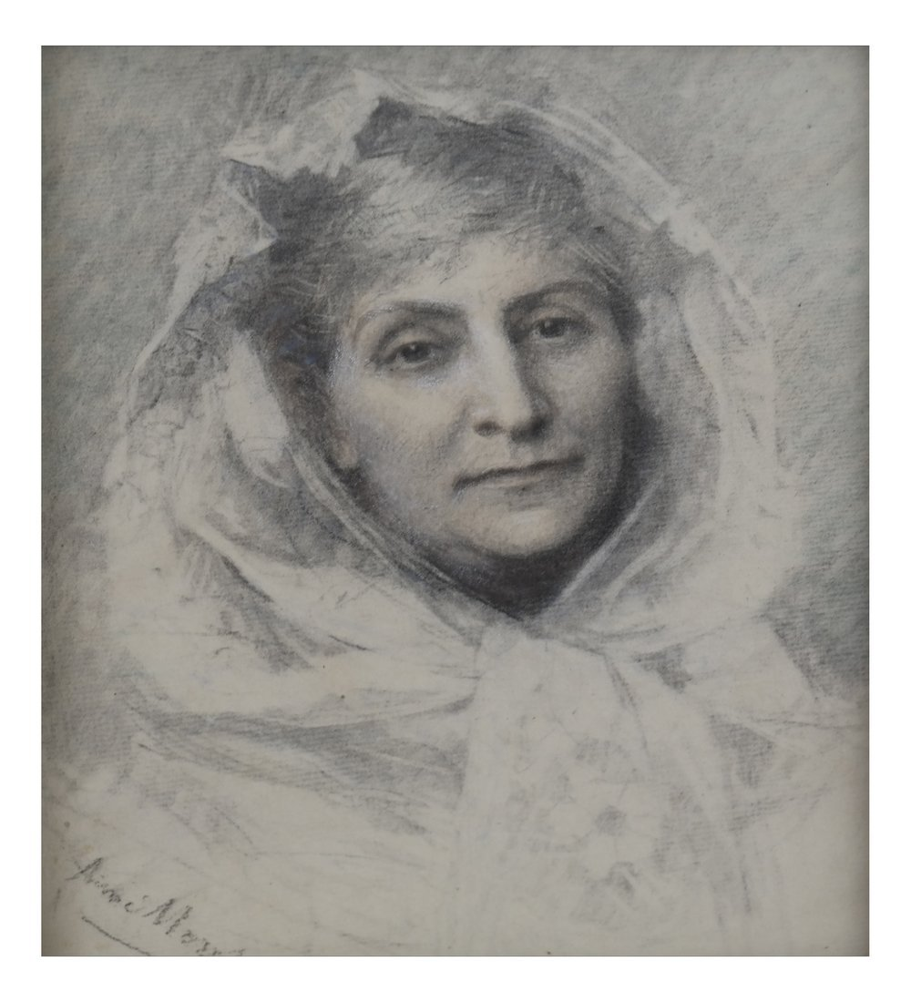 Aime Morot, Framed Portrait of a Lady