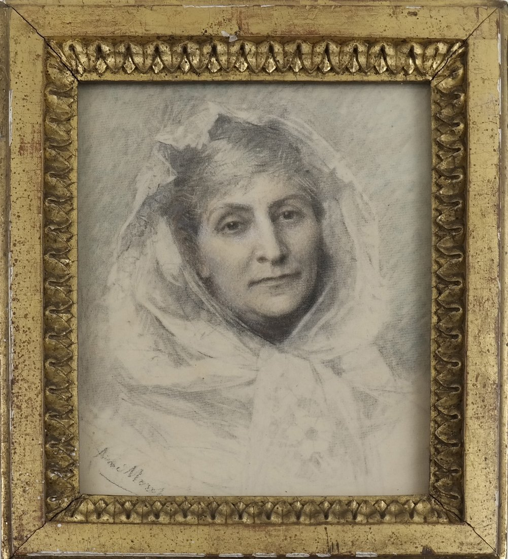 Aime Morot, Framed Portrait of a Lady - 2