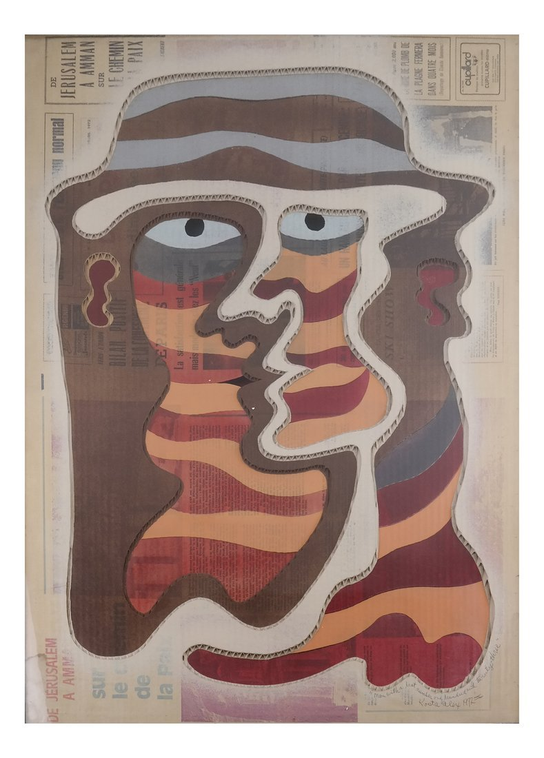 Kosta Alex, Man with Hat (123) Collage