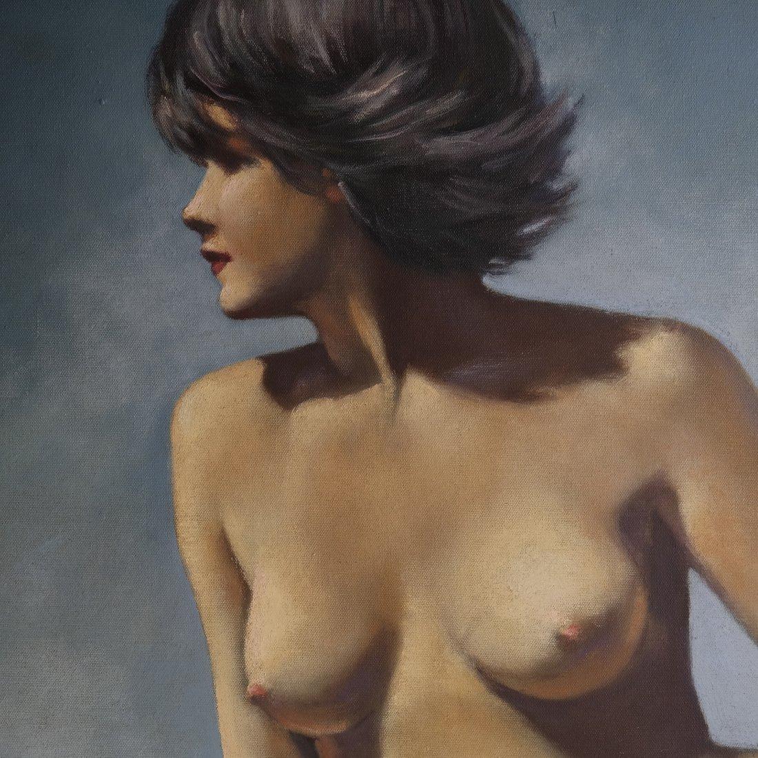 Joseph Cornwell, Nude at Beach, o/c - 3