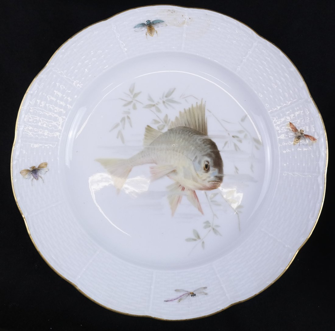 Set of 5 Meissen Porcelain Fish Plates - 3