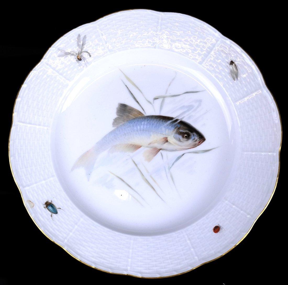 Set of 5 Meissen Porcelain Fish Plates - 4