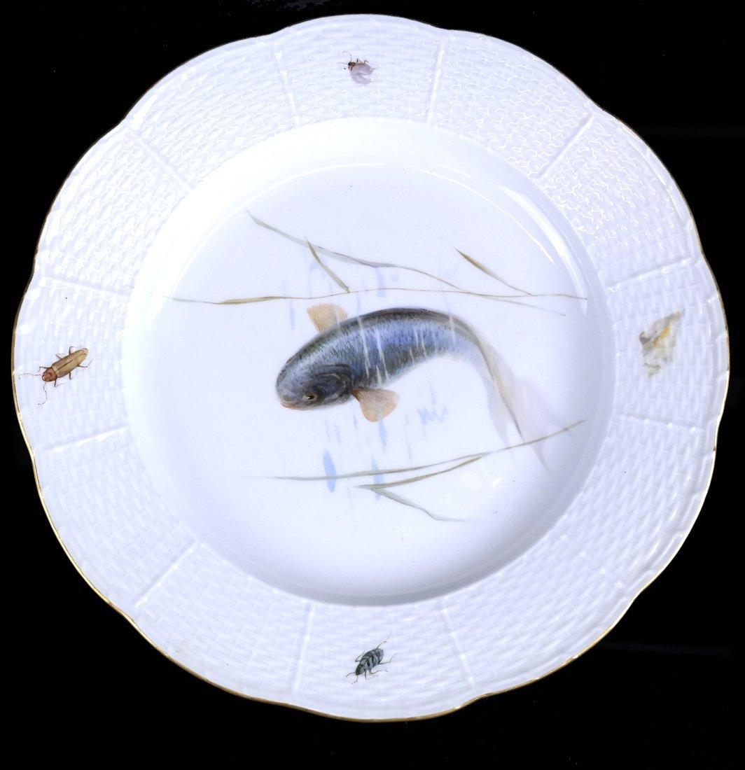 Set of 5 Meissen Porcelain Fish Plates - 5