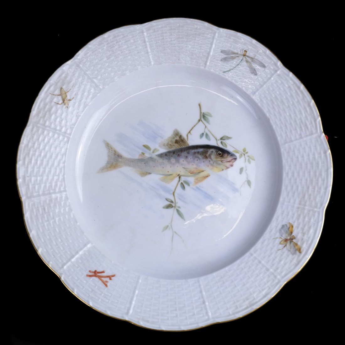 Set of 5 Meissen Porcelain Fish Plates - 6