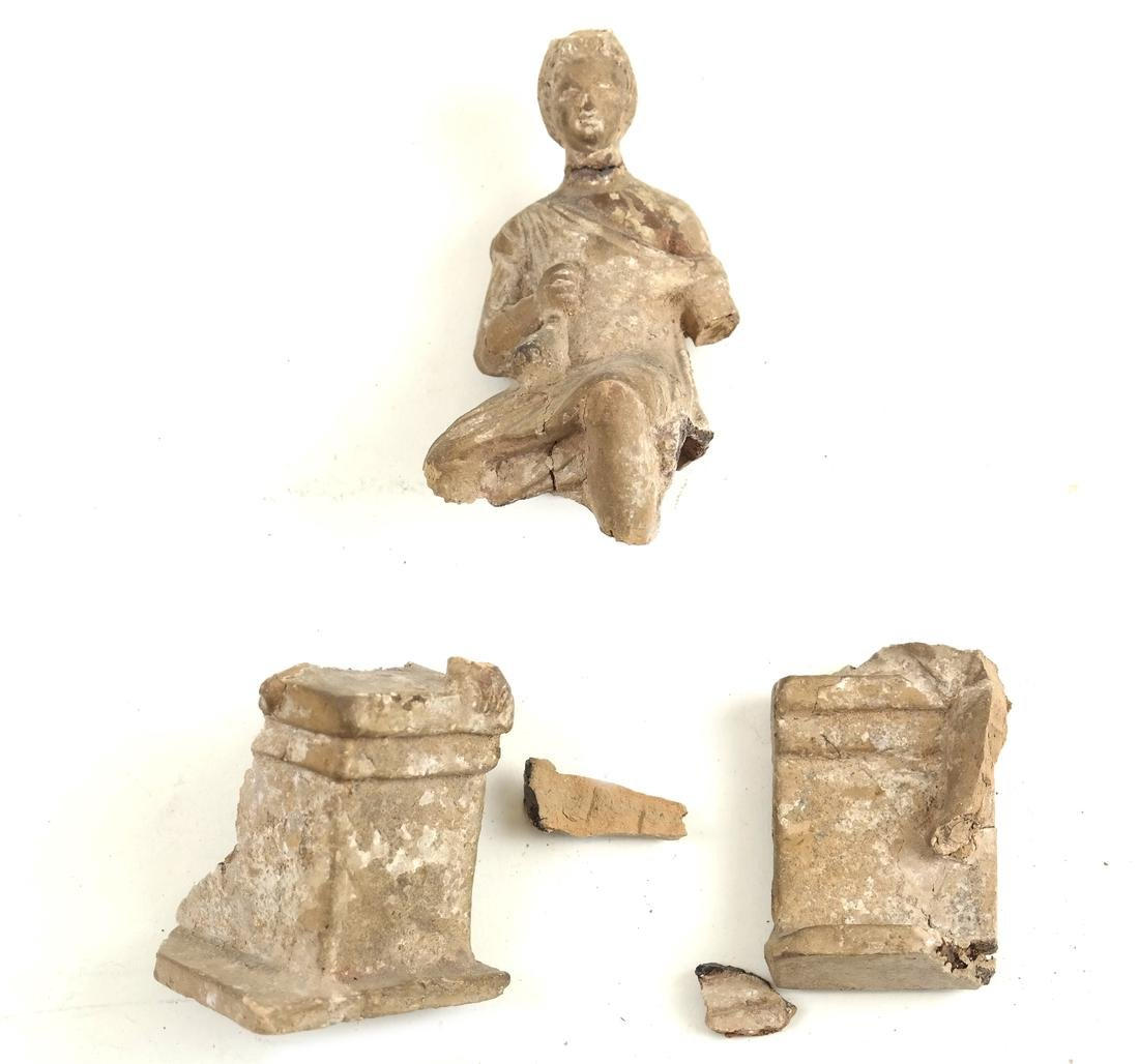 Ancient Terra Cotta Seated Figure