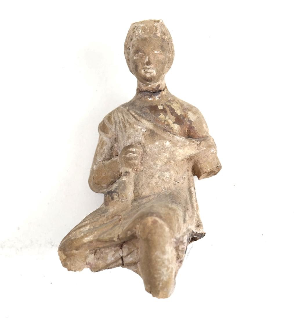 Ancient Terra Cotta Seated Figure - 2