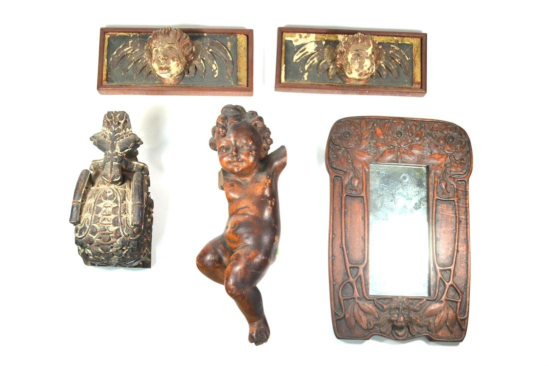 Five Carved Wood Articles