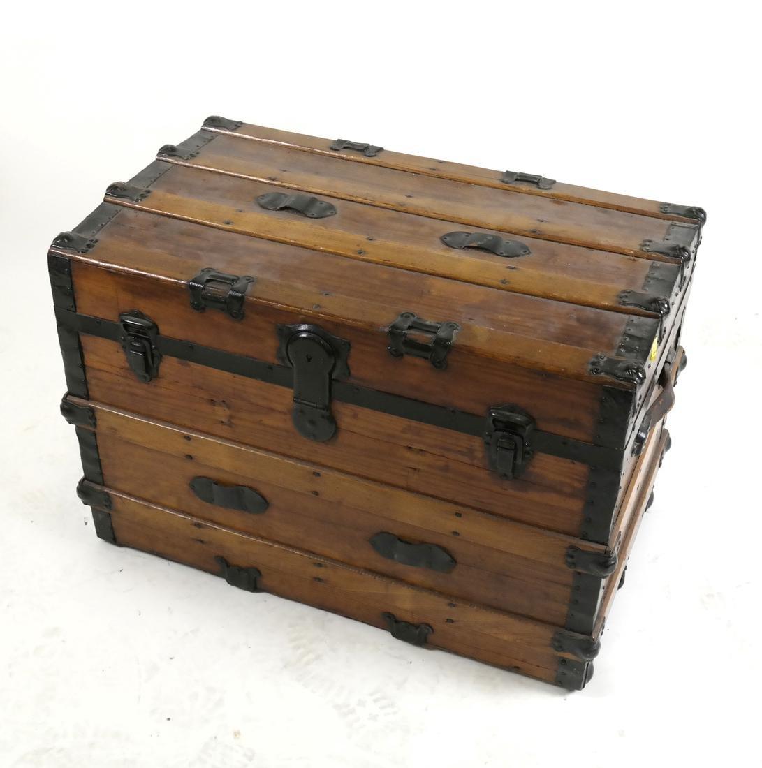 Antique Wooden Steamer Trunk