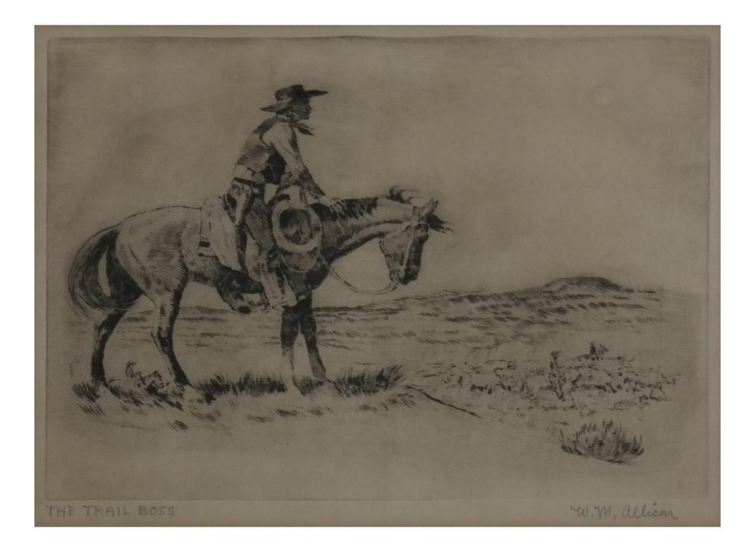 W.M. Allison, Cowboy Etching