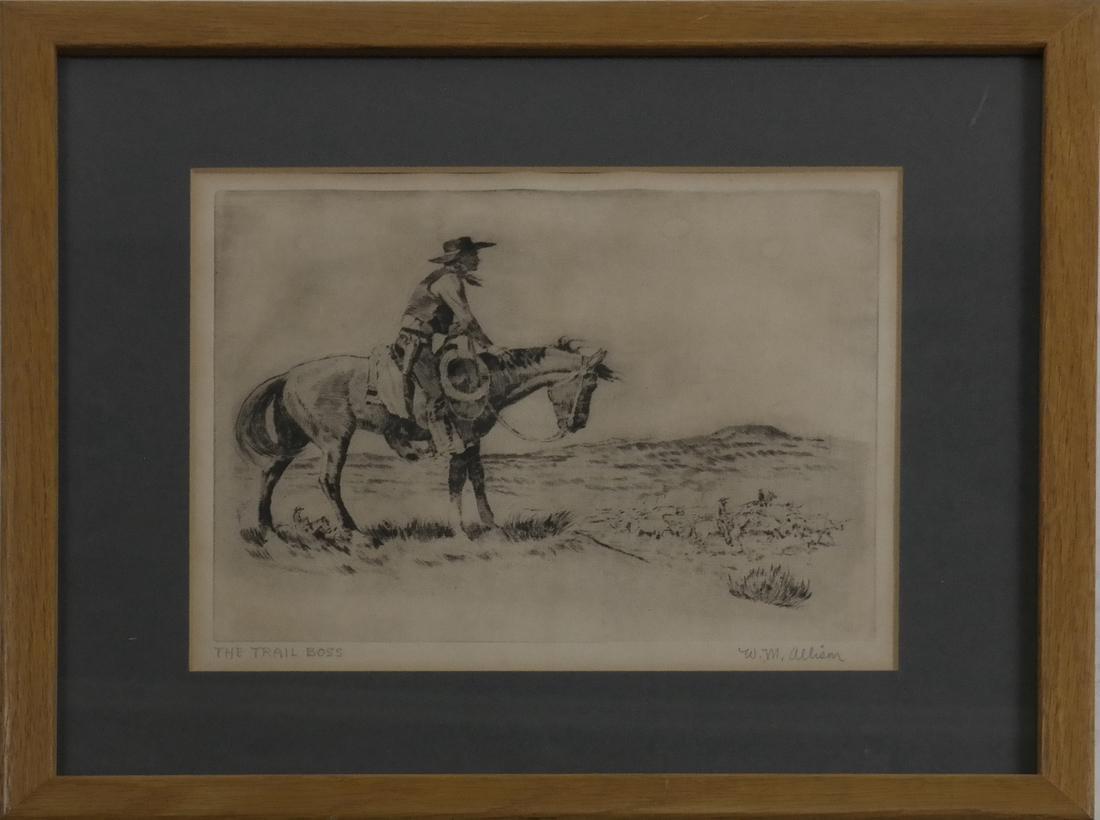 W.M. Allison, Cowboy Etching - 2