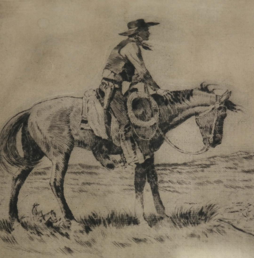W.M. Allison, Cowboy Etching - 3