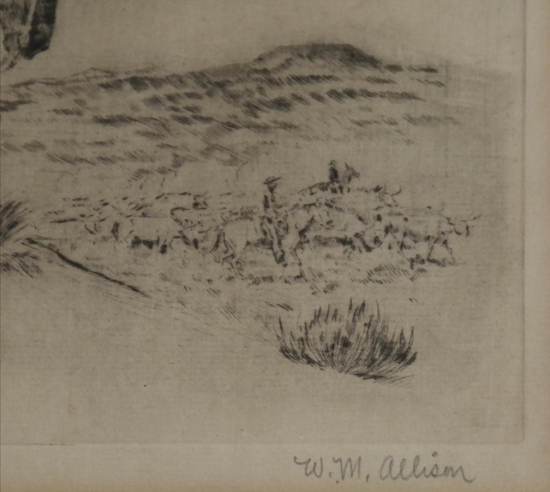W.M. Allison, Cowboy Etching - 4