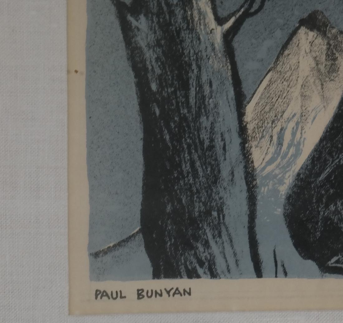 William Gropper, Paul Bunyan, Woodcut - 3