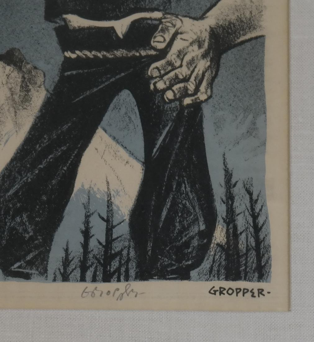 William Gropper, Paul Bunyan, Woodcut - 4