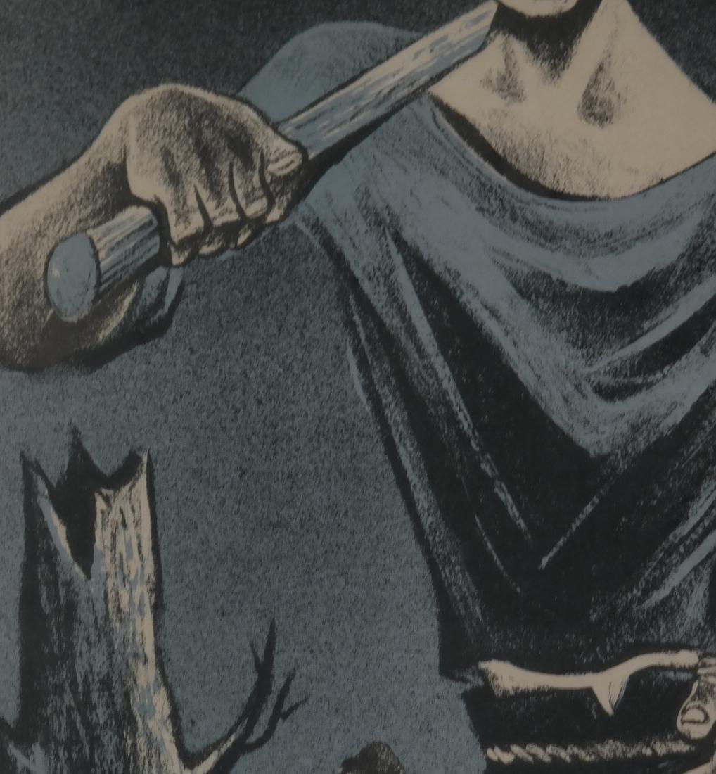 William Gropper, Paul Bunyan, Woodcut - 6