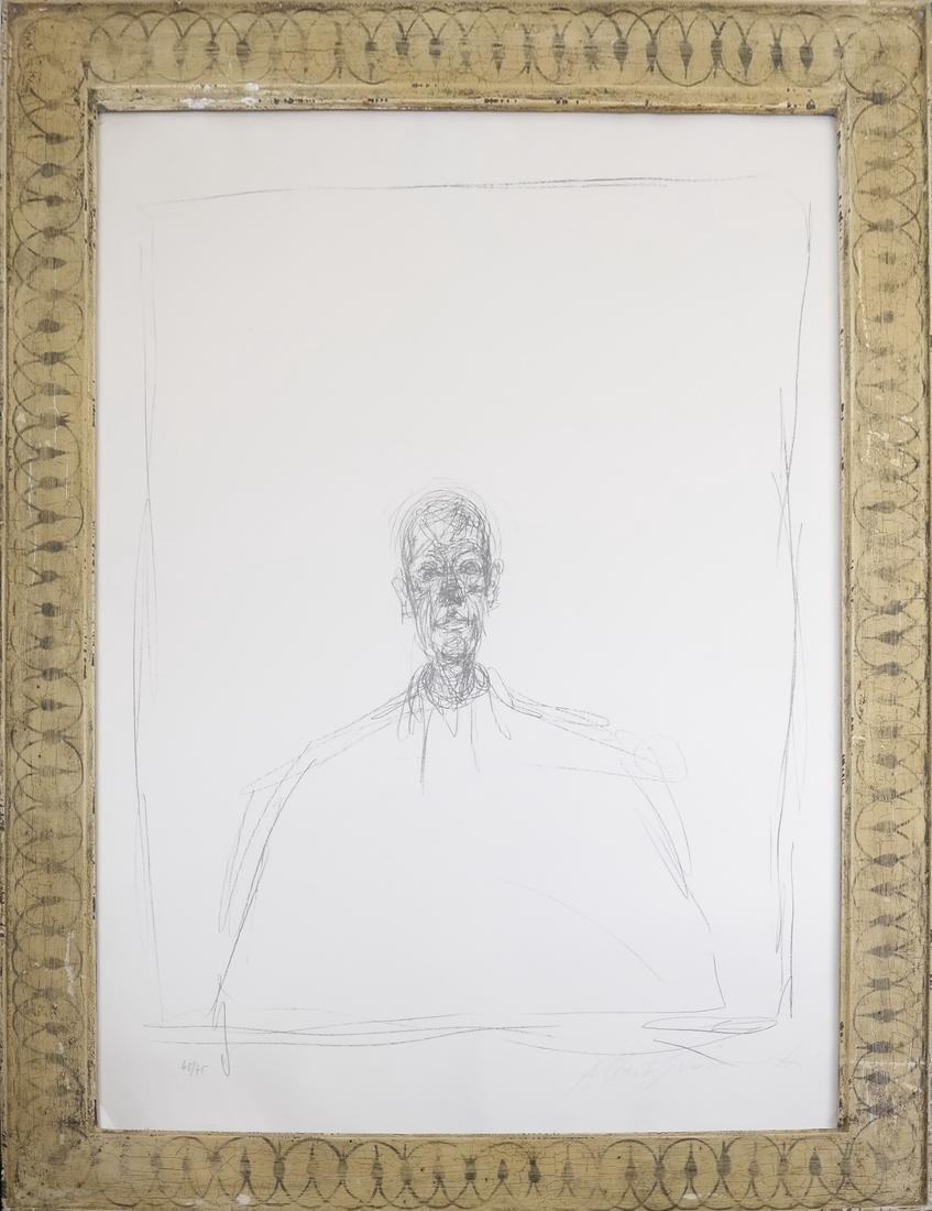 Giacometti, Buste D'Homme - Lithograph - 2