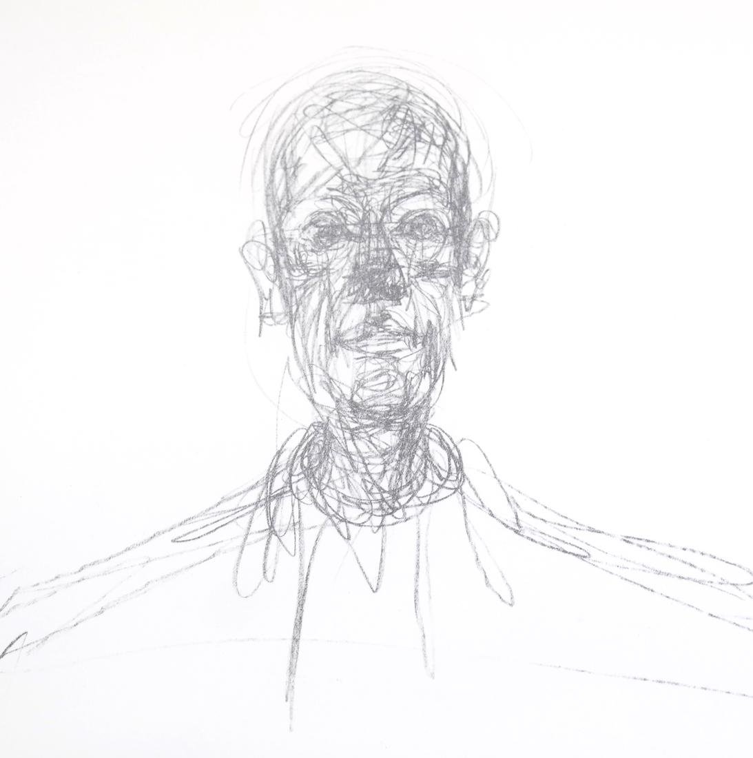 Giacometti, Buste D'Homme - Lithograph - 5