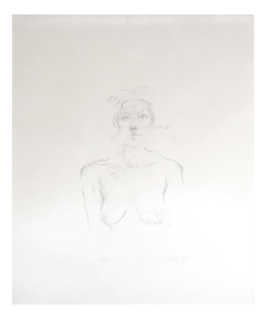 Giacometti, Bust II, Lithograph