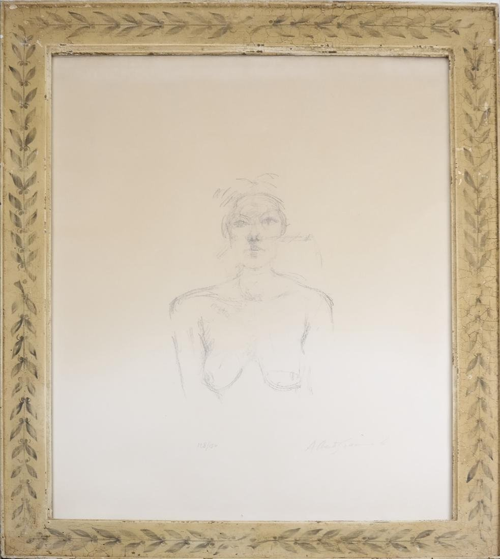 Giacometti, Bust II, Lithograph - 2