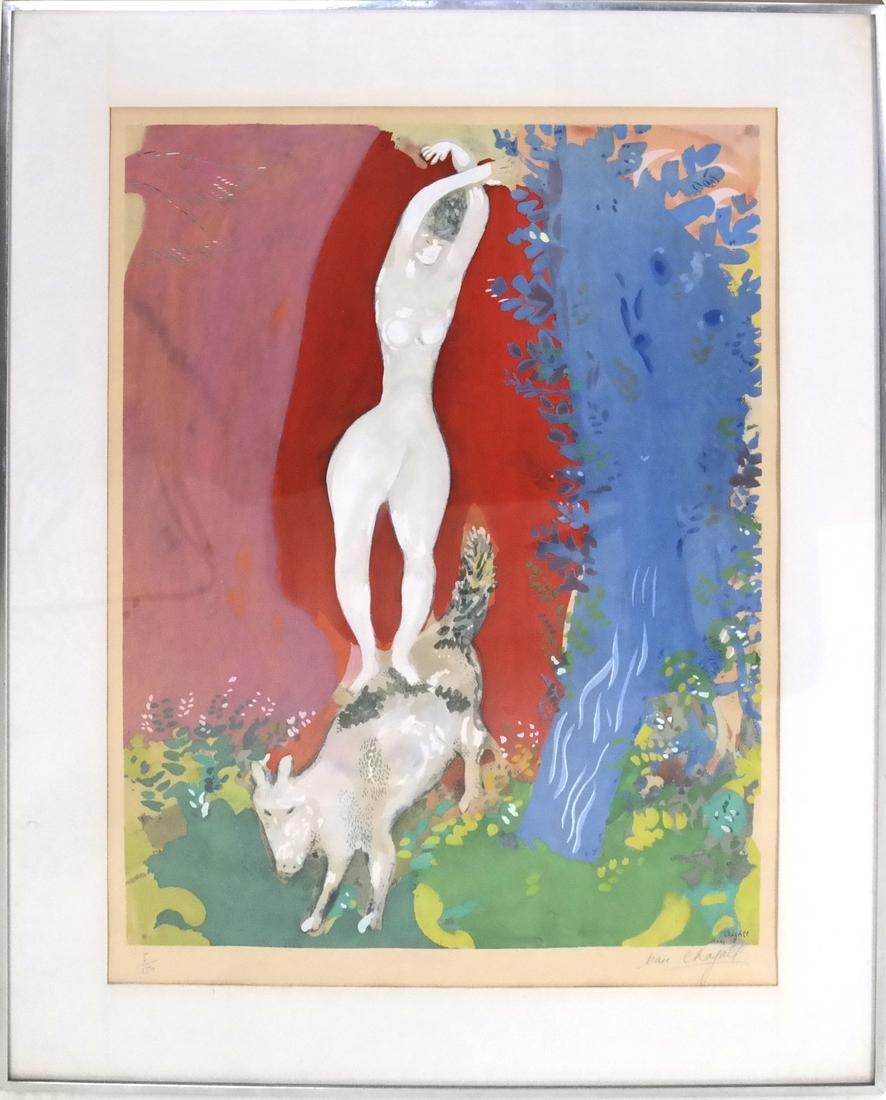 After Marc Chagall, Femme de Cirque - 2
