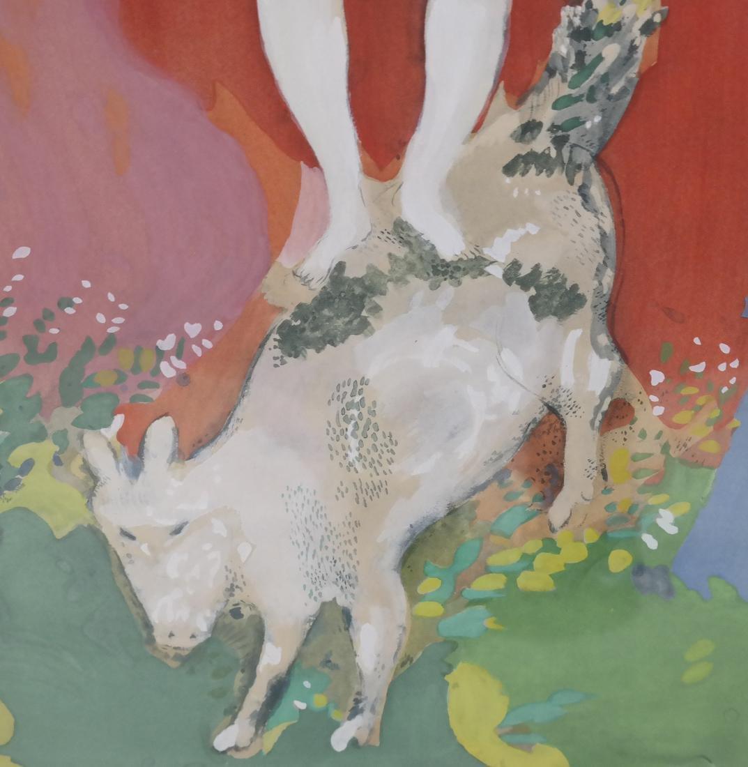 After Marc Chagall, Femme de Cirque - 4