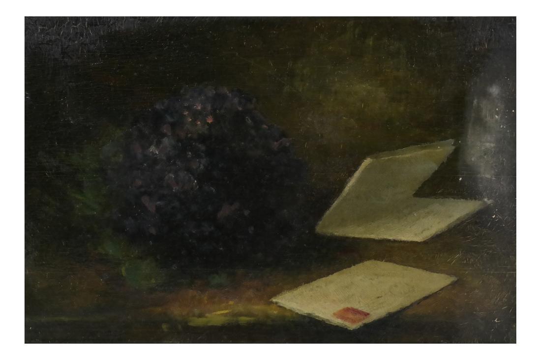 Framed Still Life with Opened Letter