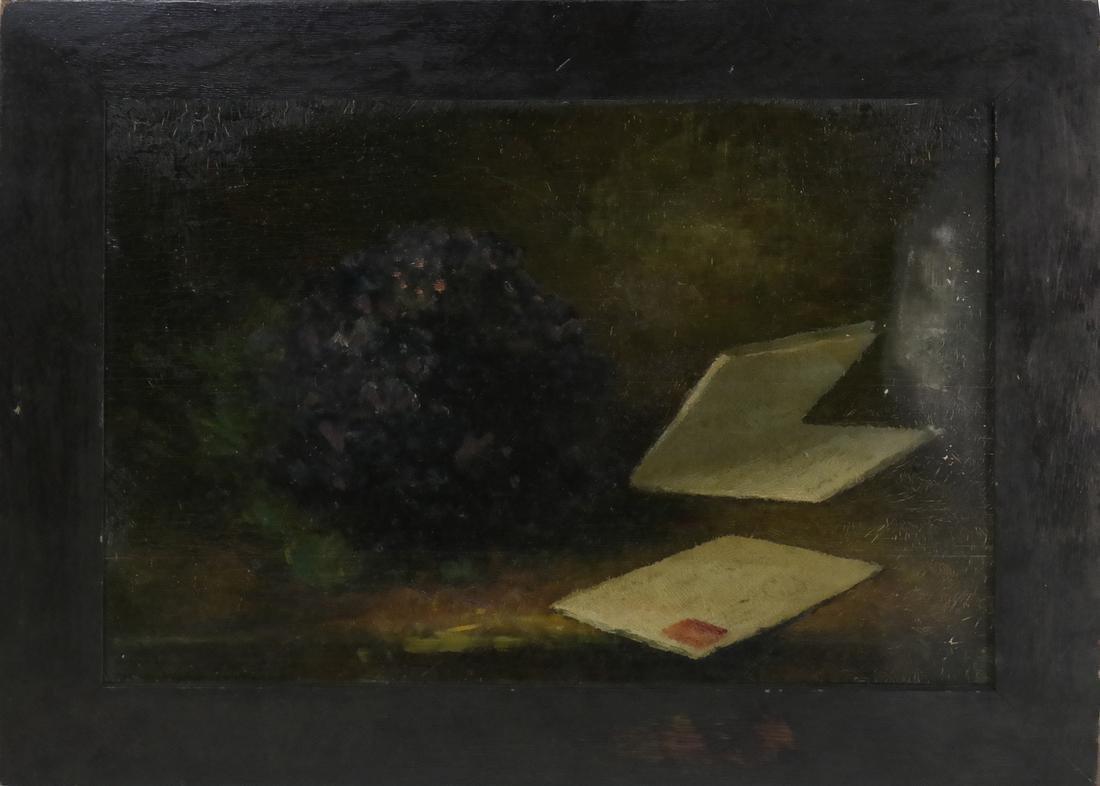 Framed Still Life with Opened Letter - 2