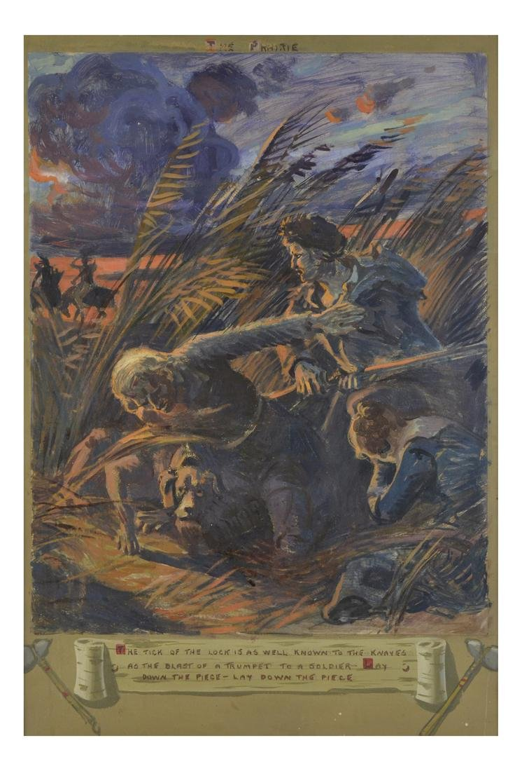 """The Prairie"", Oil on Paper"