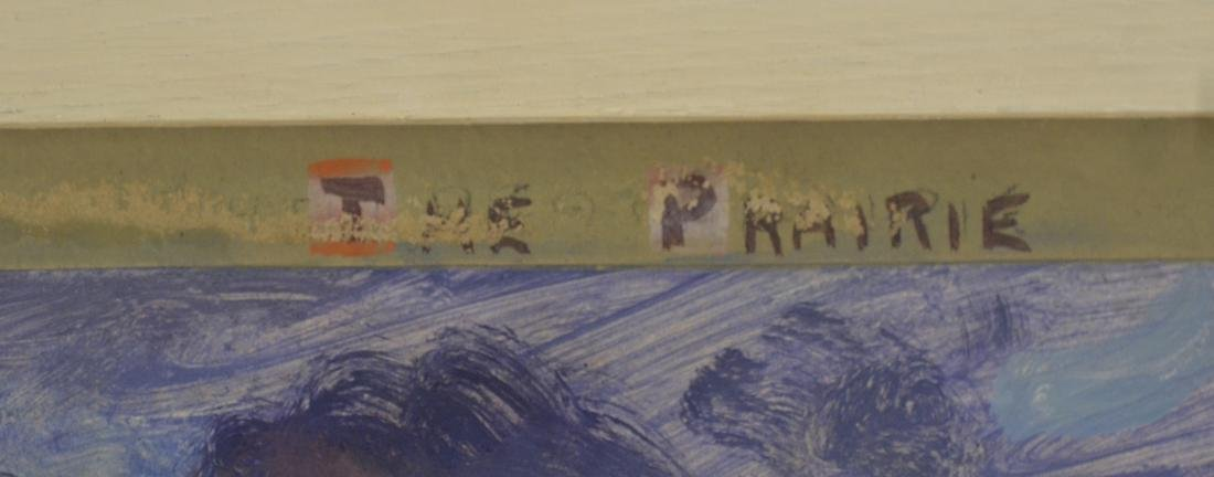 """The Prairie"", Oil on Paper - 4"