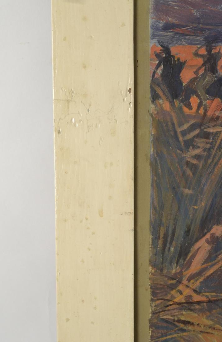 """The Prairie"", Oil on Paper - 5"