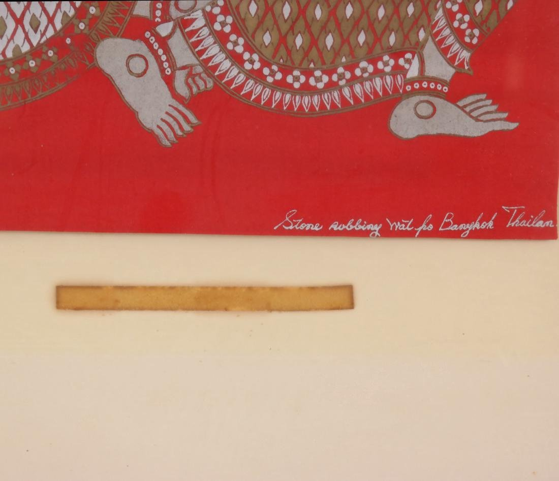Thai Framed Textile, Ceremonial Dancers - 3