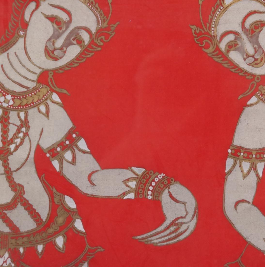 Thai Framed Textile, Ceremonial Dancers - 4