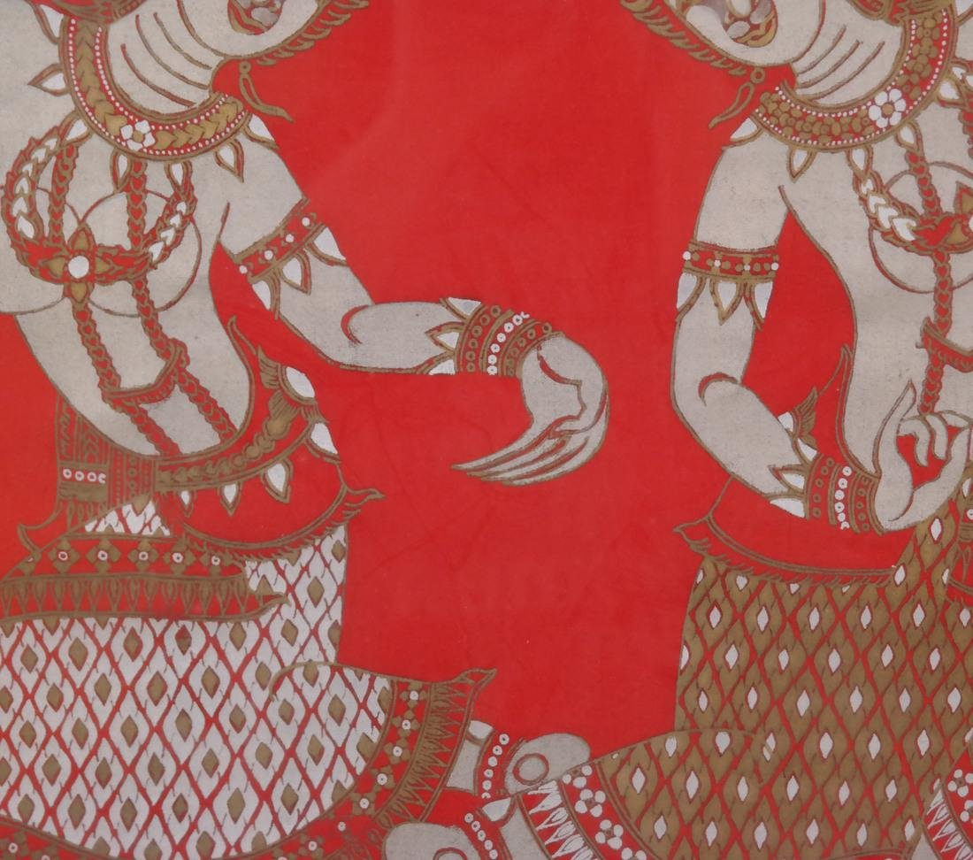 Thai Framed Textile, Ceremonial Dancers - 6