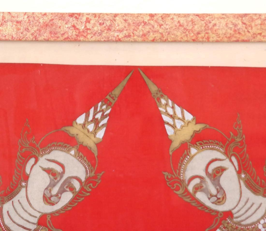Thai Framed Textile, Ceremonial Dancers - 7