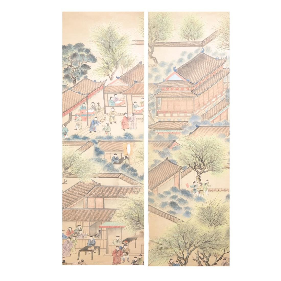 Two Asian Scroll Paintings
