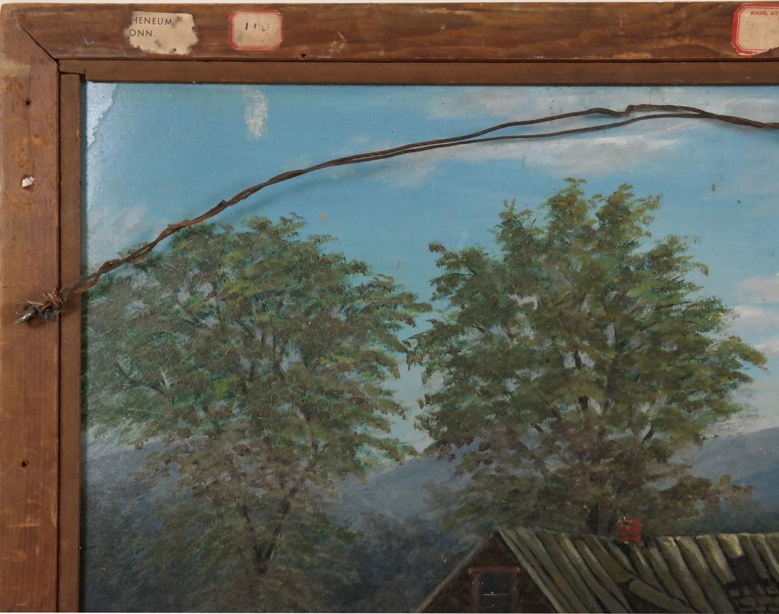 Folk Art 2-Sided Landscape, oil/masonite - 7