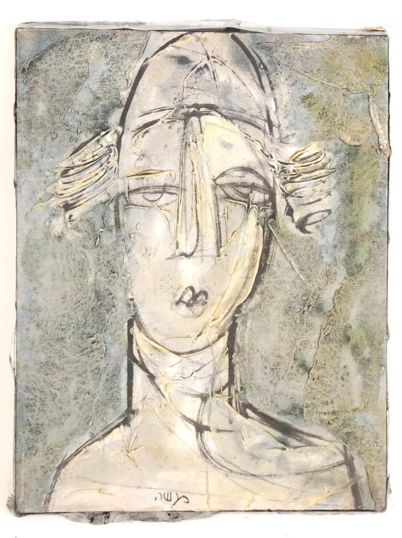 Cubist Style Portrait Bust, Oil/Canvas - 2